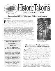 Feb 2003 - Historic Takoma Inc.