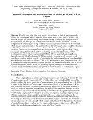 Economic Modeling of Woody Biomass Utilization for Biofuels