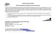 Calling All Visual Artists 2014 Art Exhibitions at ... - Town of Ajax