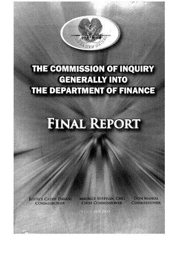 The Commission of Inquiry Part 1