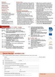 časový rozvrh: 05. 11. 2012 - Pondělí - Cech čalouníků a dekoratérů