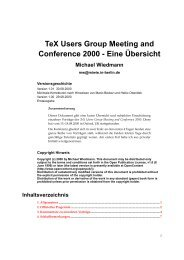 TUG Meeting and Conference 2000