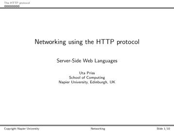 Networking using the HTTP protocol