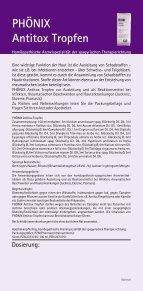 PHÖNIX Antitox Tropfen - Phoenix-lab.at - Seite 2