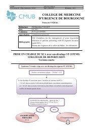 PRISE EN CHARGE DU SCA avec sus-décalage ST (STEMI) - CMUB