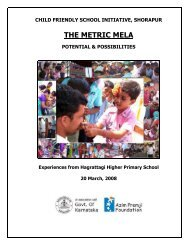 CHILD FRIENDLY SCHOOL INITIATIVE - Azim Premji Foundation