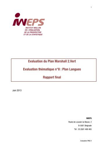 an evaluation of the marshall plan Evaluation to ensure that amidst the complex transition in public health, we will remain accountable and committed to achieving measurable health outcomes by integrating the principles of this framework into all cdc program operations, we.
