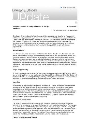 e-Newsletter in mail - NautaDutilh