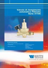 Valvola di riempimento automatica Fillmatic Serie ... - Watts Industries