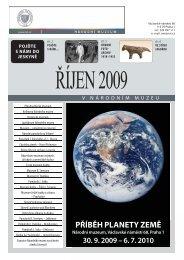 Říjen'09 v Národním muzeu - přehled výstav a ... - Národní muzeum