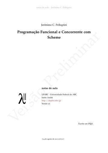 Programação Funcional e Concorrente com Scheme