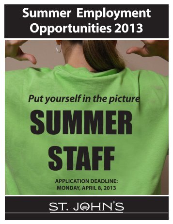 Summer Employment Guide 2013.pdf - City Of St. John's