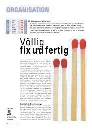 Völlig fix und fertig - Dr. Kraus & Partner