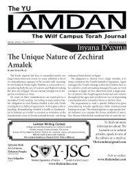 www.thelamdan.com - YU Torah Online
