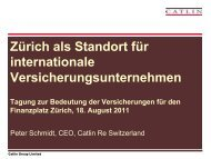 Zürich als Standort für internationale Versicherungsunternehmen