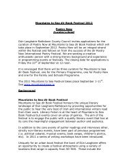 Mountains to Sea dlr Book Festival 2012 Poetry Now Curator's Brief ...