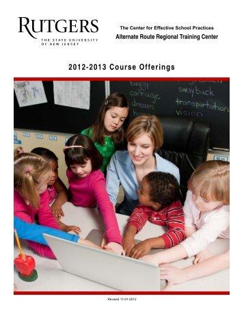 Alternate Route Regional Training Center 2012-2013 Course ...