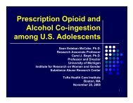 Prescription Opioid and Alcohol Co-ingestion among U.S. Adolescents
