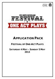 2013 north queensland festival of one-act plays - Townsville City ...