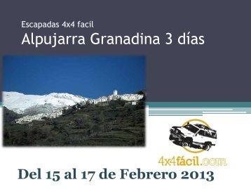 Escapadas 4x4 Alpujarra Granadina 3 días - 4x4Facil