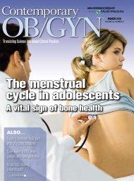 The menstrual cycle in adolescents - NIH Program on Premature ...