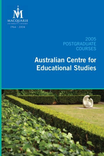 Australian Centre for Educational Studies - International - Macquarie ...