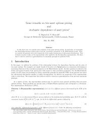 Some remarks on two-asset options pricing and stochastic ...