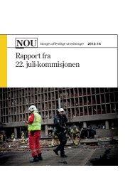 Rapport fra 22. juli-kommisjonen - Nettavisen