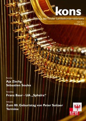 "UA ""Sphaïra"" - Tiroler Landeskonservatorium"