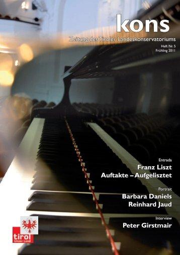 Franz Liszt Auftakte - Tiroler Landeskonservatorium