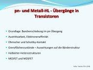 pn- und Metall-HL - Übergänge in Transistoren - lamp.tugraz.at