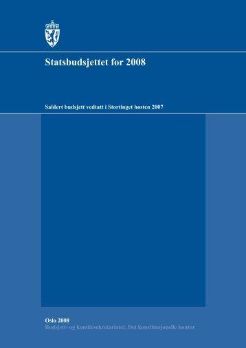 Statsbudsjettet for 2008 - Stortinget