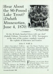 Hear About the 80-Pound Lake Trout? (.Duluth ... - webapps8