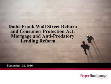 Dodd-Frank Wall Street Reform and Consumer Protection Act ...