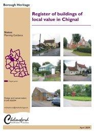 Chignal Local Register - Chelmsford Borough Council