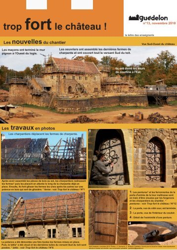 """Trop fort le château !"" N°13 (PDF - 579 Ko) - Guédelon"