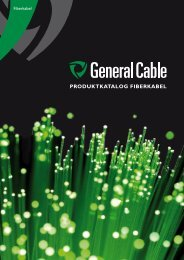 Produktkatalog Fiberkabel - General Cable Nordic AS
