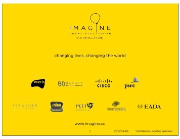 changing lives, changing the world - Imagine Silicon Valley