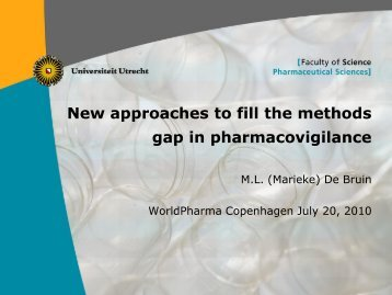 New approaches to fill the methods gap in pharmacovigilance