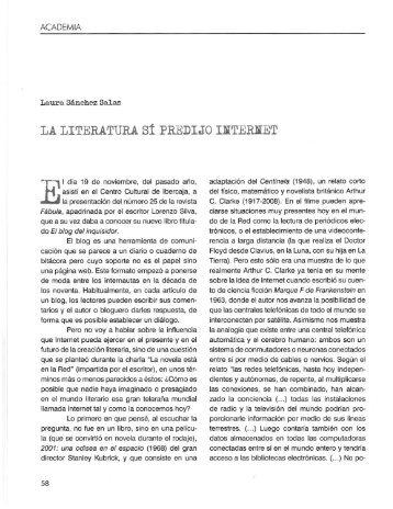 LA LITERATURA síPREDIJO IliTERJiET - Fábula