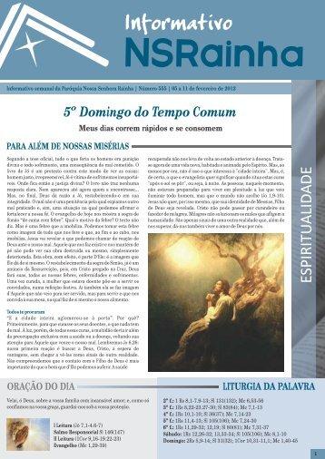 Informativo 555.pdf - PARóQUIA NOSSA SENHORA RAINHA