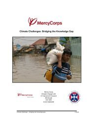 Climate Challenges: Bridging the Knowledge Gap - Mercy Corps
