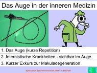 Das Auge in der inneren Medizin - Vereinigung Zuercher Internisten