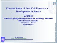 Current Status of Fuel Cell Research and