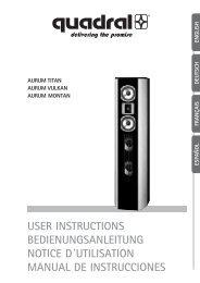 user instructions bedienungsanleitung notice d´utilisation ... - aurum