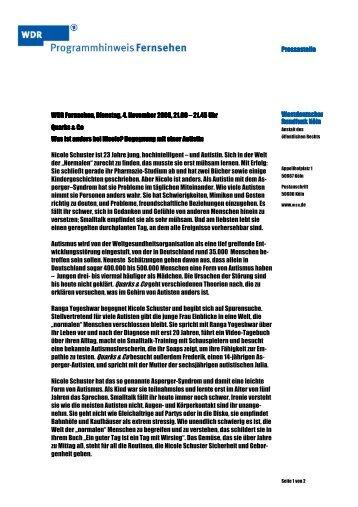 Presseste Pressestelle Westdeutscher Westdeutscher Rundfunk ...