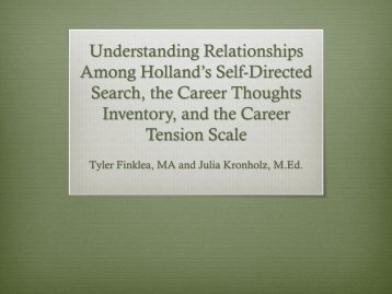 Understanding Relationships Among Holland's Self Directed Search ...