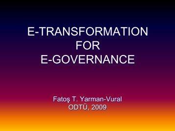 Fatoş Yarman Vural (eGovSharE2009 - Panelist)