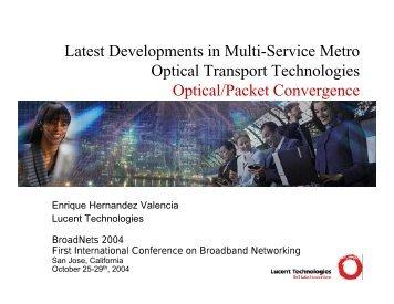Latest Developments in Multi-Service Metro Optical Transport ...