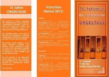 2. konzert - Orgelmusik
